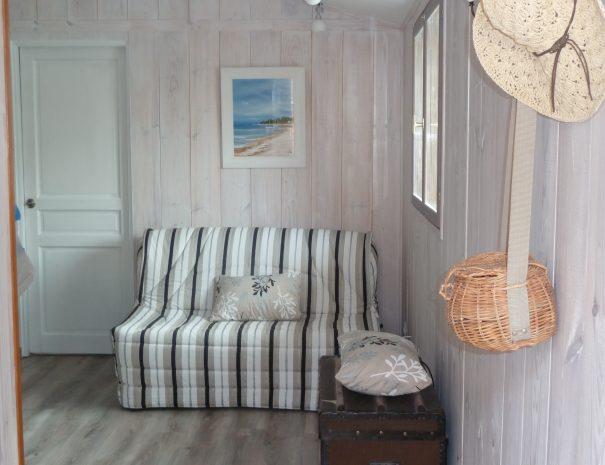 La cabane du bassin location gujan-mestras canapé-lit